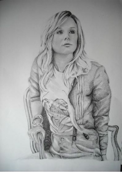 Kristen Bell by chamalow